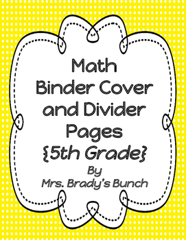 Common Core Math 5 Module Binder