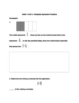 Common Core Math--5.NF.1--All standards