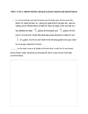 Common Core Math--5.NF.2--Word Problems-Add/Subtract Fractions-Like Denominators