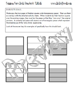 Common Core Math 5.NF.4b : Fraction Multiplication with Area Models