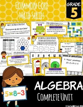 Common Core Math: 5th Grade Algebra Complete Set
