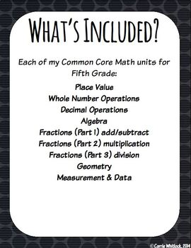 Common Core Math: 5th Grade Complete Set - Entire YEAR! Growing Bundle