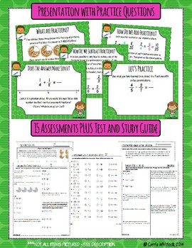 Common Core Math: 5th Grade Fractions 1 Complete Set