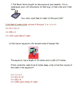 Common Core Math 5th Grade Measurement Activities (5.MD.3,4,5) Volume