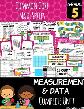 Common Core Math: 5th Grade Measurement & Data Complete Set