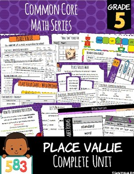 Common Core Math: 5th Grade Place Value Complete Set