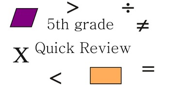 Common Core Math 5th Grade Review Questions
