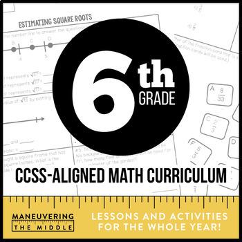 6th Grade Math Common Core Bundle