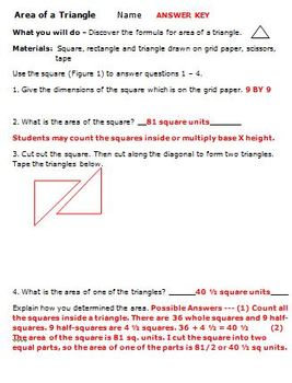 Common Core Math 6th Grade Geometry 6.G.1 Area Parallelogram Triangle Activities