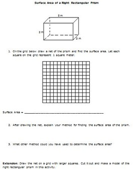 Common Core Math 6th Grade Geometry 6 G 4 Surface Area