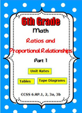 Common Core 6th Grade Math Ratios and Proportional Relatio