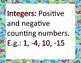 Common Core Math 7- The Number System Word Wall 7.NS