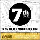 7th Grade Math Curriculum Common Core Bundle