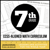 7th Grade Math Curriculum Common Core Bundle