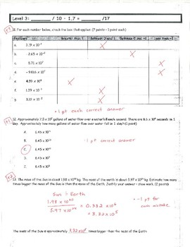 Common Core Math 8 Assessment - Integer Exponents