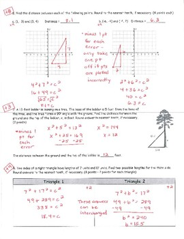 Common Core Math 8 Assessment - Pythagorean Theorem