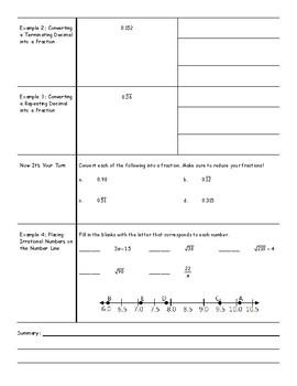 Common Core Math 8 Cornell Notes