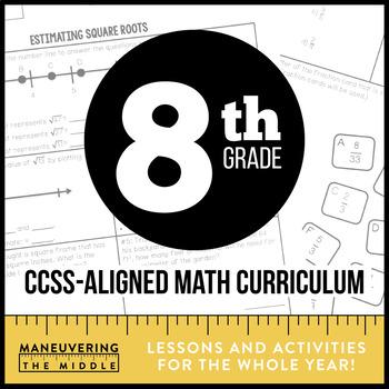 8th Grade Math Common Core Bundle