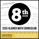 8th Grade Math Curriculum Common Core Bundle