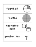 Common Core Math Academic Vocabulary 1st grade