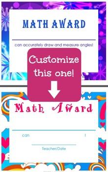 Common Core Math Achievement Certificates - 4th Grade