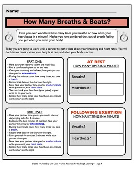 Common Core Math Projects: Breaths & Heartbeats: Multiplication Fun for Gr. 3-5