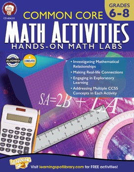 Common Core Math Activities Grades 6-8 SALE 20% OFF! 404235