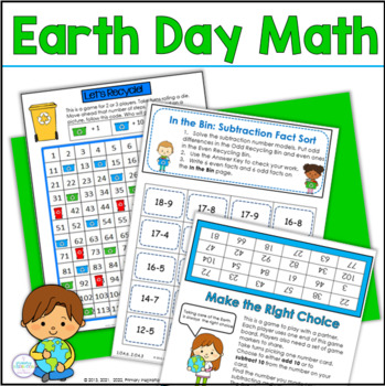 Earth Day Math Games and Activities