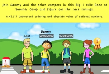 Common Core Math Activity(Big Race) - Absolute Value of Rational Numbers
