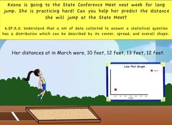 Common Core Math (Long Jump) – Statistics, Line Plot, Dist