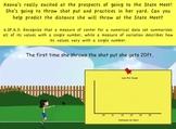 Common Core Math Activity (Shot Put) – Statistics, Median, Mode, Range