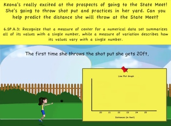 Common Core Math Activity (Shot Put) – Statistics, Median,