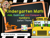Common Core Math Add, Subtract and Compare Numbers for Kindergarten