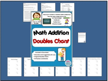 Common Core Math Addition Doubles Chant and Worksheets