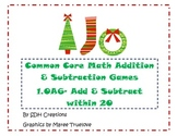 Common Core Math Addition & Subtraction Games (1.OA6): Christmas Themed