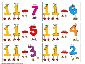 Common Core Math Addition and Subtraction Games Grades 1 and Grades 2