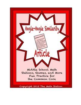 Common Core Math Article - Angle-Angle Similarity
