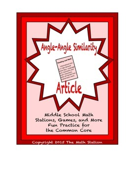 Common Core Math Article - Angle-Angle Similarity