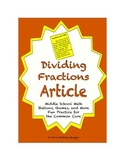 Common Core Math Article - Dividing Fractions