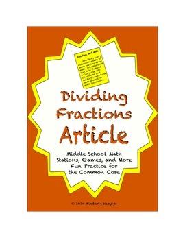 Common Core Math Article - Dividing Fractions