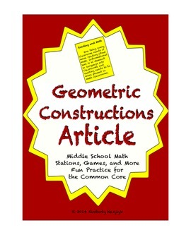 Common Core Math Article - Geometric Constructions