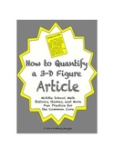 Common Core Math Article - How to Quantify a Three-Dimensional Figure