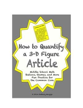 Common Core Math Article - How to Quantify a Three-Dimensi