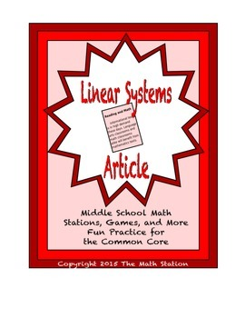 Common Core Math Article - Linear Systems