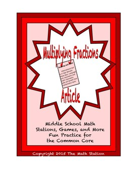 Common Core Math Article - Multiplying Fractions
