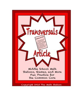 Common Core Math Article - Parallel Lines and Transversals