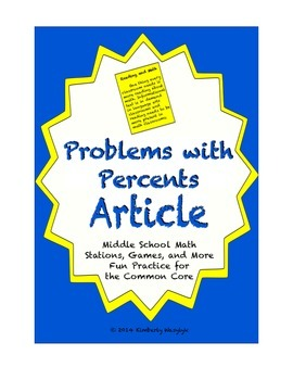 Common Core Math Article - Percent Problems