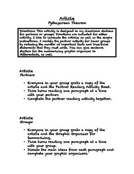 Common Core Math Article - Pythagorean Theorem