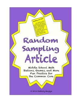 Common Core Math Article - Random Sampling