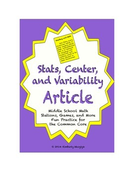 Common Core Math Article - Statistics, Center, and Variability